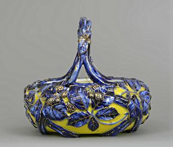 Royal Worcester Porcelain Basket