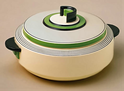 Casino Ware Art Deco Covered Dish