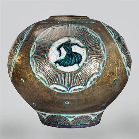 Jean Mayodon ceramic vase