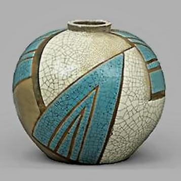 Art Deco globular vessel RENÉ-BUTHAUD,-1886-1972
