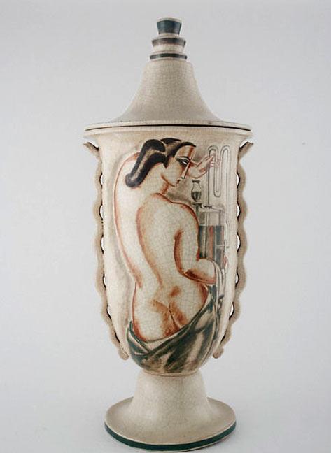 René Buthaud--Monumental lidded vase