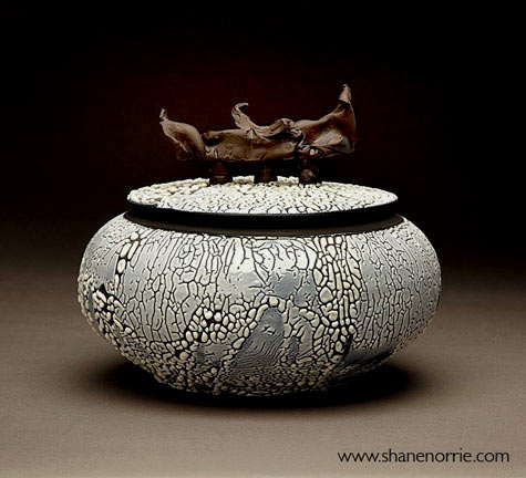 Shane Norrie wheel thrown Raku