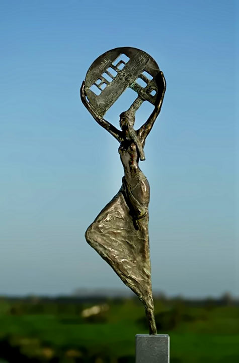 So much on my mind- bronze statue