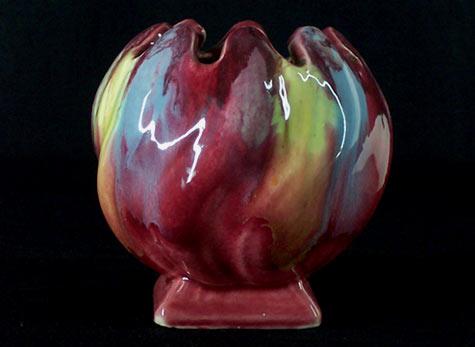 Vintage Margot Laurie Drip Glaze Vase