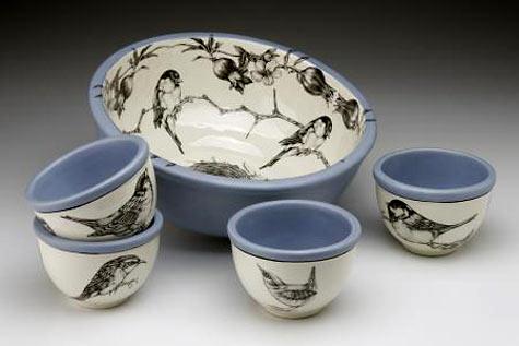 Bowls birds-  Laura Zindel