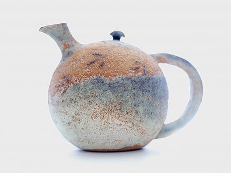 Teapot with birdprints by Susie Jemkins