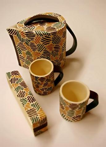 Angeles Velaquez modernist tea set