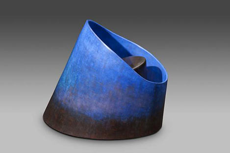 Into the blue.2010 Carme Collell ceramic sculptural art