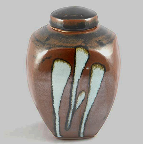 Squared Ginger Jar by David Frith