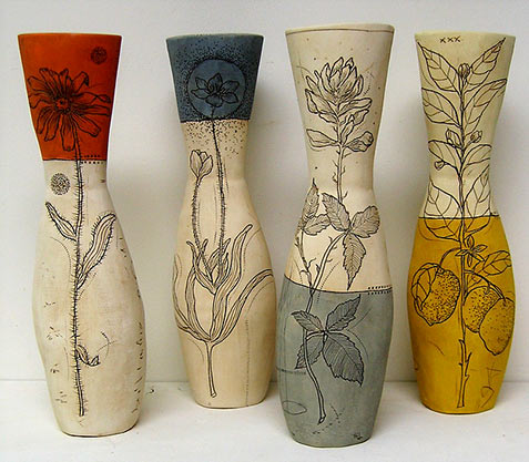 Flowers vases - Diana Fayt