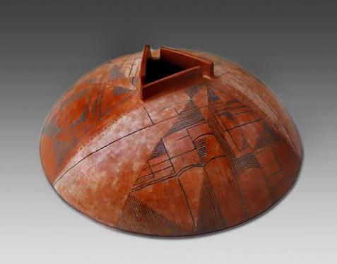 Rust-brown- ceramic-art-Carme Collell