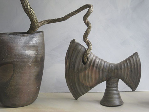 Wood fired Axe vase