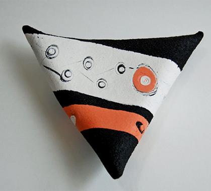 Black tricorn pillow - Jo Connell