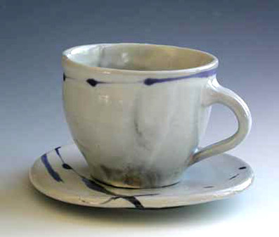 Blue Strip Cup and Saucer