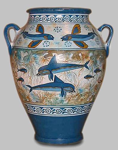 Minoan dolphin pot