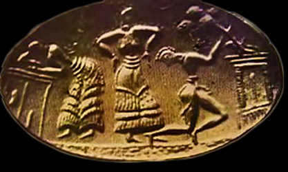 Minoan-Ritual dancing - gold signet ring