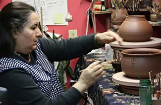 Guadalupe Robinson in studio
