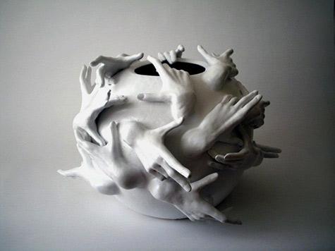 Hand Sculppture - Catherine Warwick ceramicist