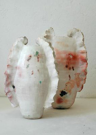 Two winge urns