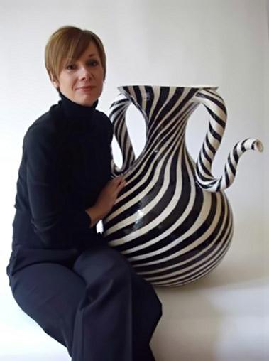 Catherine with large vase