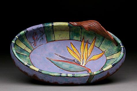 Paradise bird bowl - Beth Tarkington