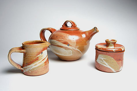 Teaset-shino by Angela Walford