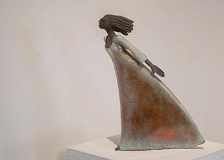 Keramik figurine Margit Hohenberger Raku