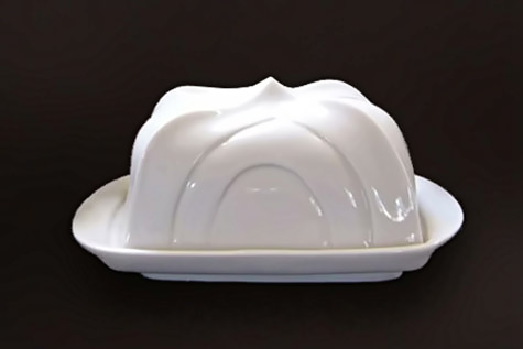 tent butter dish