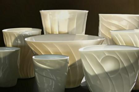 water,wind, sand vase