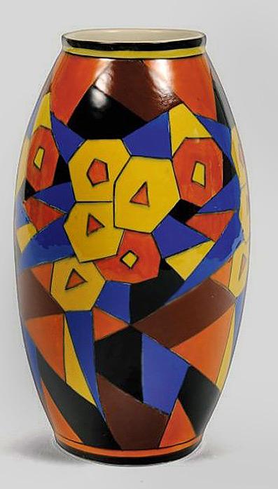 Charles Cotteau cubist vase.