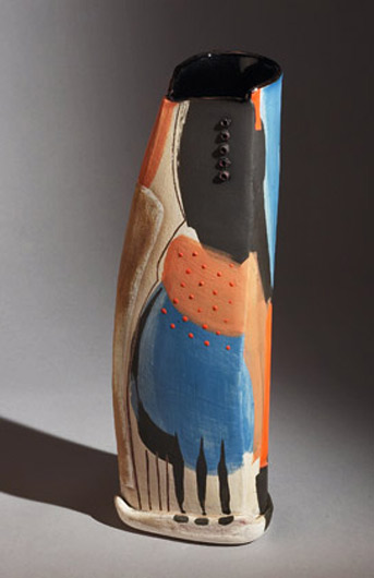 Camilla Ward slab built contemporary vase