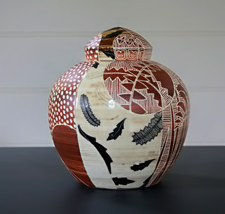 Lidded Jar - Janet De Boos