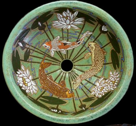 Koi Pond Sink Eric Olson Common Ground Pottery