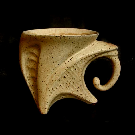 Metamorphoses Of Clay - great shape. Alien Mug Limited edition Stoneware