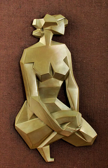 Modernist-Art-Deco-Cubist-Framed-Sculpture---Giovanni-Schoeman