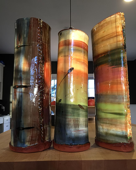 Rebecca-Hillman-Fall-Series cylindrical and elliptical vases vases