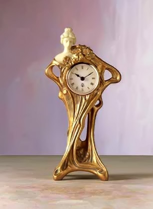 Art Nouveau lady clock