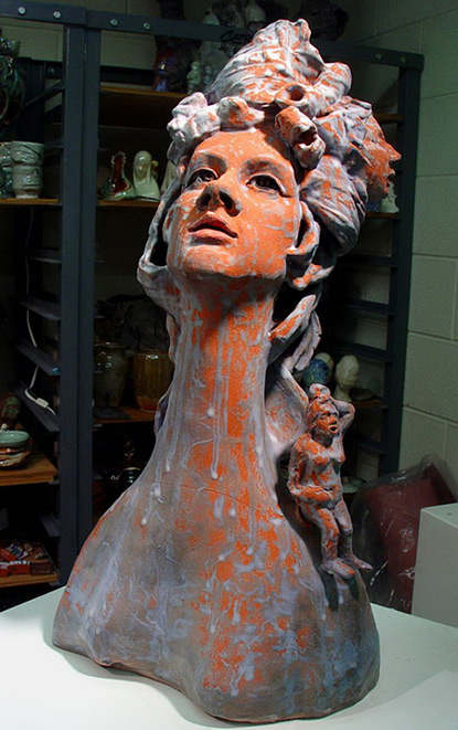 large ceramic bust ShinYeon Jeo