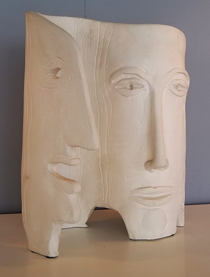 Dual Faces Sculpture