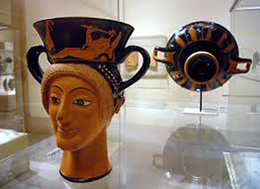 Greek, Attic, red figure terracotta
