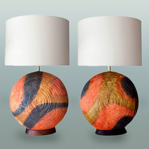 Fantoni Pair of Lamps