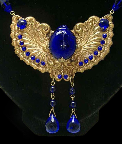 1920s Egyptian revival scarab jewellry