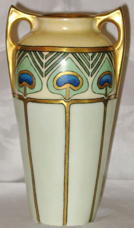 Art Deco Urn Vase Egyptian