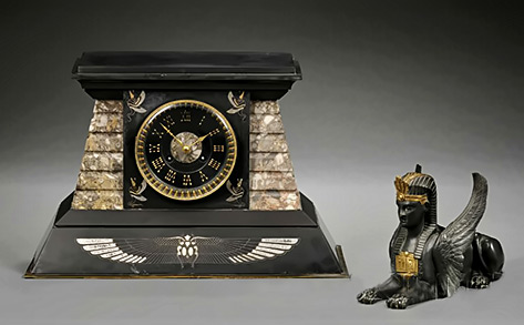 Egyptian Revival Marble,clock