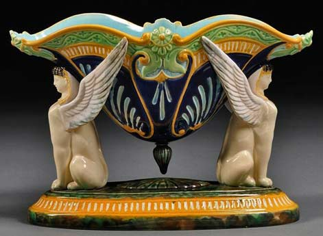 GEORGE-JONES-Majolica-compote-in-the-Egyptian-taste,-England,-c