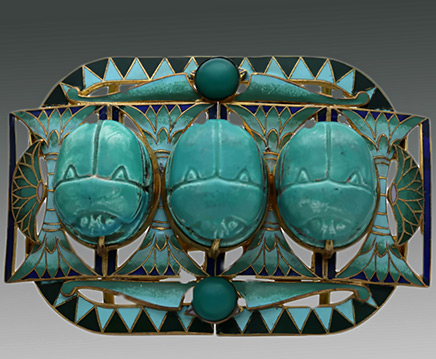 Egyptian Revival Scarab Buckle