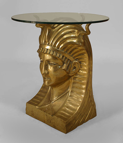 20th c. Egyptian Revival Pharaoh Table
