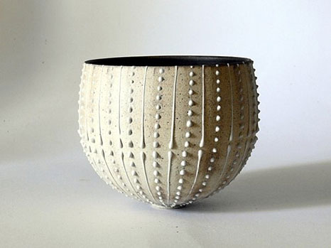 Christina Guwan urchin white cup French ceramic