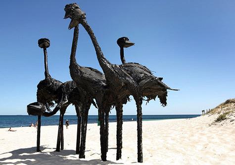 Antipodean-Recruits--sculpture by Len Zuks