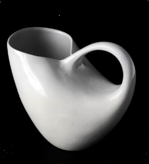 White Porcelain Pitcher - Majda Kumar